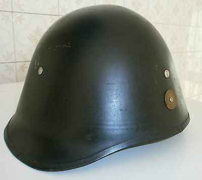 Danish Civil Defence Helmet With Insignia Liner And Chin Strap Wwii