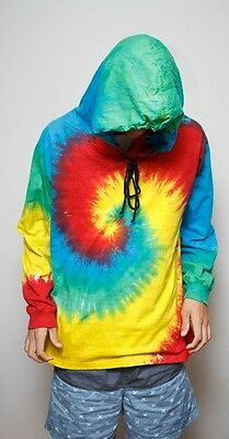 New Festival Tie Dye Hoodie Long Sleeve T-Shirt Cotton Unisex Sizes S - 2Xl
