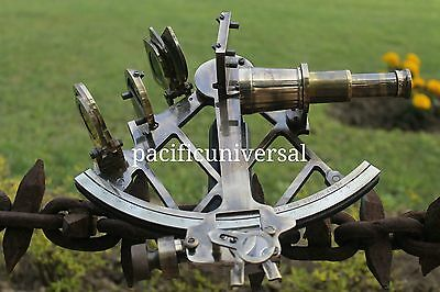 Nautical Sextant Antique Maritime Heavy Brass Navigation Working Sextant Decor.