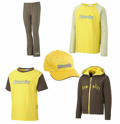 Official Kids Brownies Uniform Short + Long Sleeve T-Shirt - Leggings Hoodie Cap