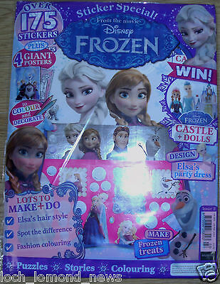 Disney Frozen magazine comic Issue #3 + Sticker Special, Posters to Colour &more