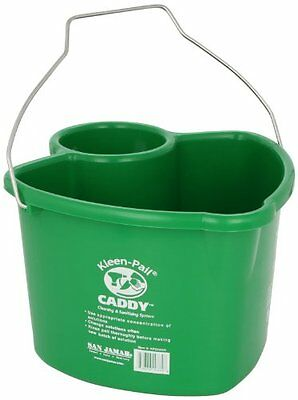 San Jamar KP550 Kleen Pail Caddy, Green, New, Free Shipping