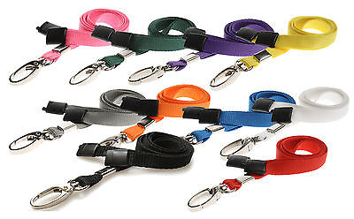 Safety Neck Strap Lanyard Safety Breakaway (Lobster Clip) ID Badge Holder lot