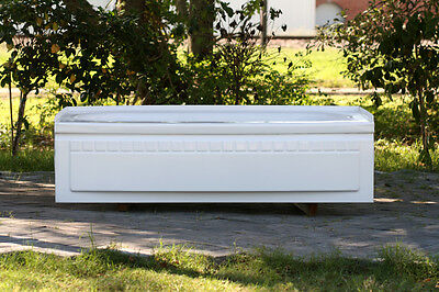 Refinished Vintage 5' Unusual Lipped Alcove Stamped Metal Bath Tub