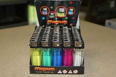 50 Disposable Lighters X 50 Pack In 5 Colors Brand New Sealed Uk Sell Only