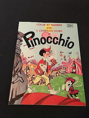 Vintage Unused Color By Number With A Complete Story Pinocchio Excellent