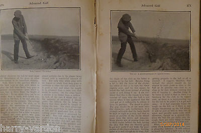 James Braid Open Champion 1907 Antique Illustrated Photo Hickory Golf Article