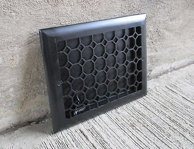 "Antique Cast Iron Wall Grate Vent - Refinished - Black- [13 3/4"" x 10 7/8""] (#1)"