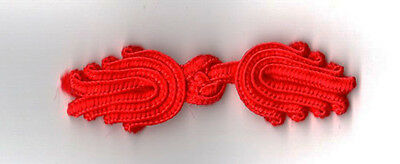 6 pairs red Chinese Frogs Closure buttons sewing
