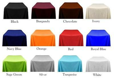 """6 packs Rectangle 90""""x156"""" inch Polyester Tablecloth 8ft Banquet Cover 18 Color"""