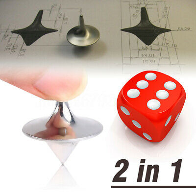 Inception Totem Zinc Alloy Silver Accurate Spinning Top Gyro + Dice + Bag New