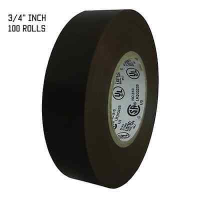 "TapesSupply 100 ROLLS BROWN ELECTRICAL TAPE 3/4"" X 66 FT"