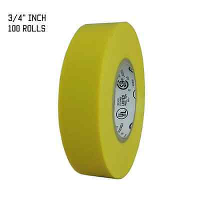 """TapesSupply 100 ROLLS RED ELECTRICAL TAPE 3//4/"""" X 66 FT"""