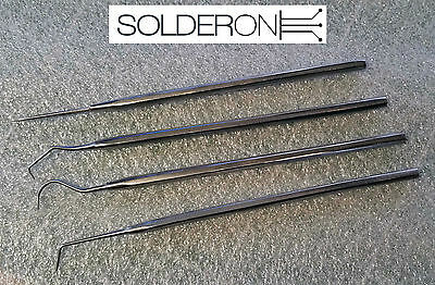 4 Piece Stainless Steel Pick and Scribe Set - Pro's Kit