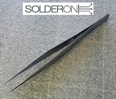 Needle Nose Tweezers for SMD Work - Stainless Steel