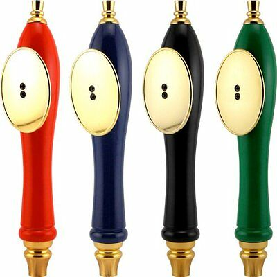 Pub Style Beer Tap Handle with Oval Shield: BLACK, New, Free Shipping