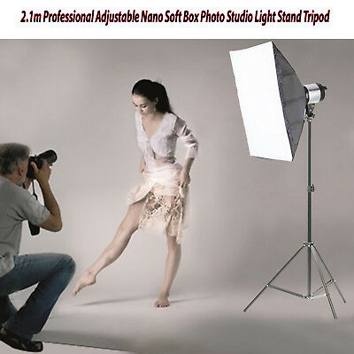 2.1m Professional Adjustable Nano Soft Box Photo Studio Light Stand Tripod