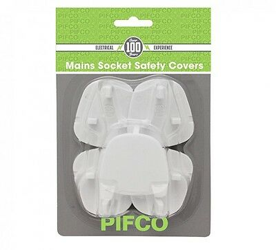 5 Pack Baby Plug Socket Covers Baby Child Protection Home Safety - WHITE