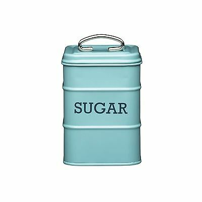 Living Nostalgia Sugar Canister Kitchen Storage Jar Containers Pots - Pale Blue