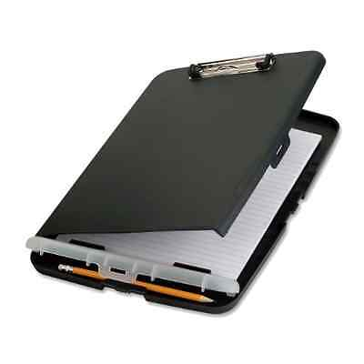 Officemate Office Slim Clipboard Paper Pen Storage Box Hand Grip Metal Clip .