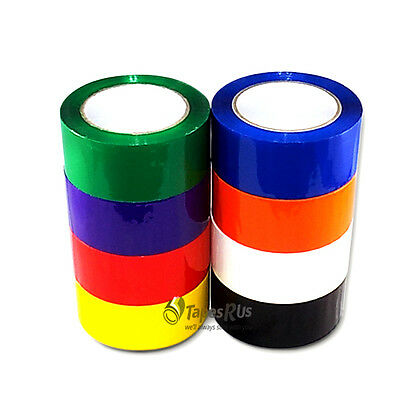 "2"" IN. x 55 YDS. COLOR CARTON SEALING PACKING TAPE - 9 COLORS AVAILABLE"