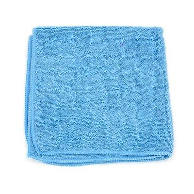 12-PACK AUTO POLISHING TOWELS MICROFIBER CLEANING CLOTH Blue 16x16 in.