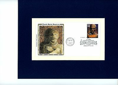 Boris Karloff In The Mummy And First Day Cover Of Stamp