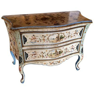 Amazing Venetian Rococo Style Painted Commode