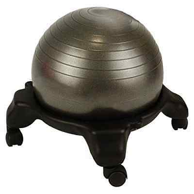 Fitness Ball Chair Posture Balance Yoga Exercise Workout Office W/Base Free Ship