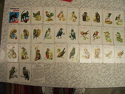 Vintage Black Peter Cards / Schwarzer Peter / Pierre Noir Old Maid Style Game