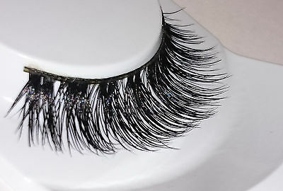 100% 3D Mink Lilly False Lashes Flutter Individual Hand Real Extension SALE MY