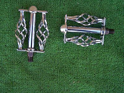 """Bicycle Pedals Cage Design  Twisted 1/2""""   Lowrider Bmx Cruisers  Chopper Cp New"""