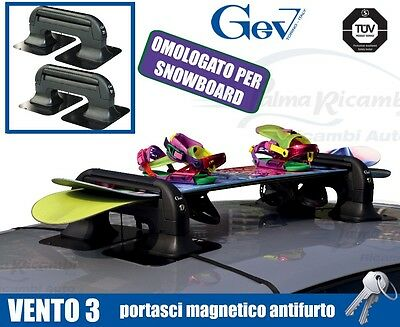 8941 Ski Roof Rack Magnetic Ant-Itheft System Gev Vento 3 For 3 Pairs Di Sci O 2