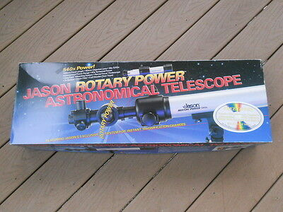 Jason Model 500-DSM Rotary Power Astronomical Telescope By Bushnell, New In Box