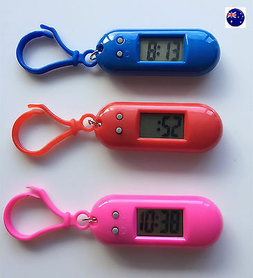 1PC Girls Boy Lady Keyring Key Ring pocket Led Digital Nurse School light Watch