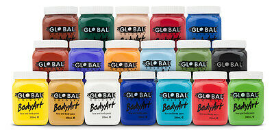 200ml Global Art Face paint and Body paint standard colour Party make up 18B3020