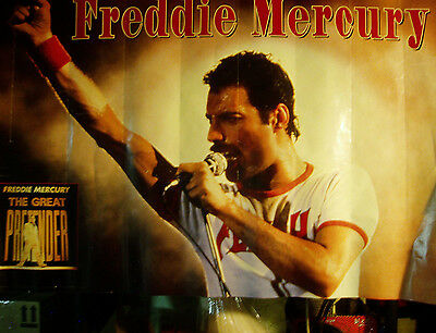 """Freddie Mercury """"THE GREAT PRETENDER"""" large 36"""" x 24"""" poster-QUEEN-ships free!"""