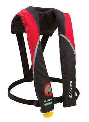 Onyx Outdoor 133200-100-004-15 A-24 In-Sight Auto-Inflate Life Jacket Red