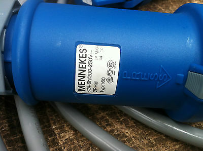 MENNEKES CONNECTOR 32A-6h/200-250V PLUG with 15M cable