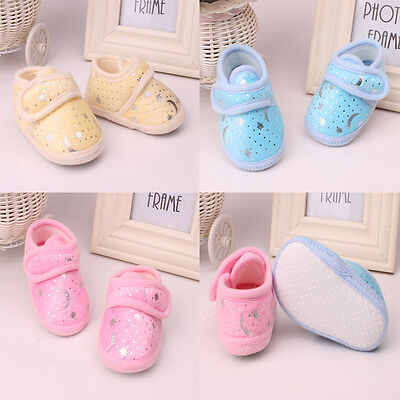 Infant Toddler Baby Boy Girl Kid Soft bottom Shoes Newborn 0-18 Months 3 colors