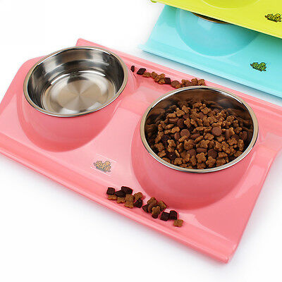Stainless Steel Pet Dog Cat Puppy Travel Feeder Food Bowl Water Dish