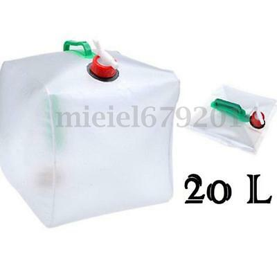 20L Folding Water Carrier Container Holder Water Storage Outdoor Picnic Camping