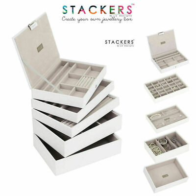 Stackers Classic Size Jewellery Boxes WHITE or Design Your Own Set FREE DELIVERY