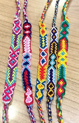 Friendship Bracelets Woven Wholesale 6 Pieces Unisex Wristband Fair Trade Surfer