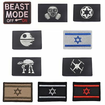 Multi-Types Embroidered Flag Tactical Army Morale Military Swat Patch Lot Magic