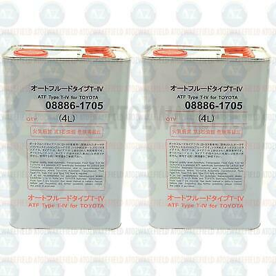 2x 4L OEM Type T-IV Automatic Special TOYOTA ATF Type T-IV SYNTHETIC 8 litre