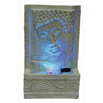 Sandstone Oriental Buddha Face with Swirl Indoor Water Feature