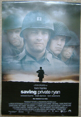 Saving Private Ryan (1998) Original D/S One-sheet poster, Matt Damon, Tom Hanks