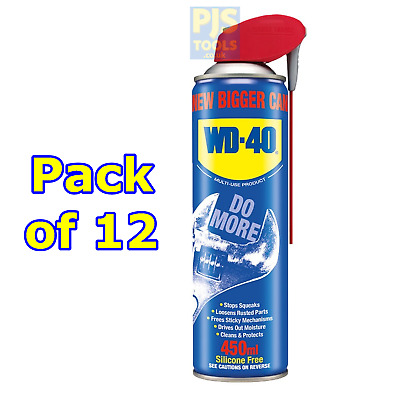 WD40 new larger size 450ml maintenance spray case of 12 WD-40 replacing 400ml