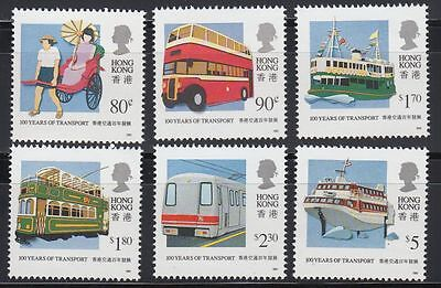 Hongkong 1991 ** Mi.615/20 Transport | Schiffe Ships Bus Coach Zug Train Tram